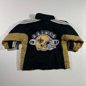 Saints 12M Toddlers Bomber Jacket. NFL Original